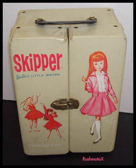 Vintage Skipper Barbie Doll White Carrying Case 1964