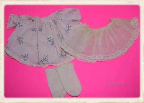 Ginny Alexanderkins Doll Dress Underskirt & socks Set