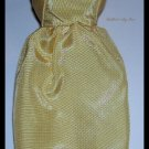 Vintage Barbie Doll Yellow Satin Sheath Dress