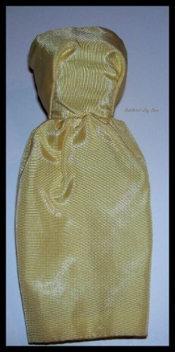 Vintage Barbie Doll Yellow Satin Sheath Dress
