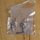 NEW NIP ABC Earrings Silvertone Teacher Gift Rhinestone