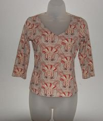 Womens The Limited Stretch 3/4 Sleeve Shirt sz XS
