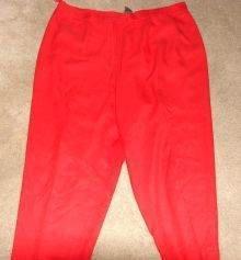 Womens Red Lauren by Ralph Lauren Capris 20W Plus Silk