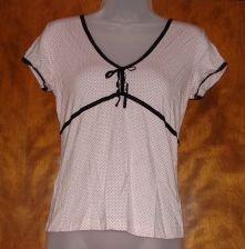 Banana Republic Pink w/Black Polka Dots Shirt sz Small
