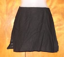 Womens Black BEBE Skirt sz 2 Slit Club Sexy EUC