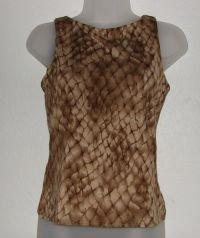 Womens NY&CO Snakeskin Print Tank Shirt sz Small Built in Bra