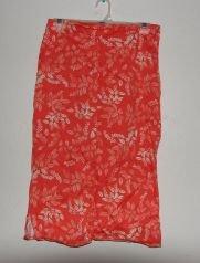 Womens Ann Taylor Stretch Orange Floral Print Skirt sz 6P Petite