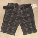 Juniors Blue/Green Plaid Union Bay Shorts NEW sz 3