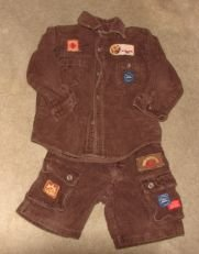 Boys 2-pc Brown Corduroy Outfit by Sister Jenni sz 4 Boutique