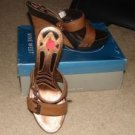 NEW Nine West Womens Brown Open-Toed Shoes/Sandals 8