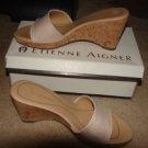 Womens Like New Etienne Aigner Slides w/box sz 8