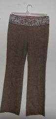 Womens Guess Marciano Floral Embroidered Pants Slacks sz 2