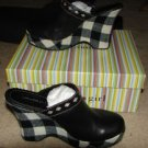 NEW w/box Tommy Hilfiger Tommy Girl Black/White Check Clogs sz 8.5