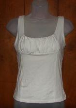 Womens Victorias Secret White Tank Top w/Shelf Bra sz Small