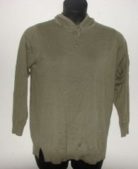 Womens In Due Time Green Hooded Maternity Shirt sz Medium