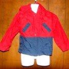 Boys Red/Blue Okie Dokie Windbreaker Jacket sz 4/4T
