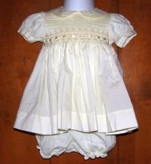 Girls 2-Pc Carriage Boutiques Pale Yellow Floral Smocked Dress 6 Months Spring Easter