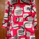 Womens Capacity Beaded Geometric Print Shirt Dress sz Small Medium?