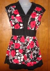Womens Cato Floral Print Sleeveless Shirt sz Small