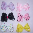 custom made hair bows, set of 6