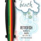 Longboard - RetroFish Tail Beach Board - Rasta KL0011-3
