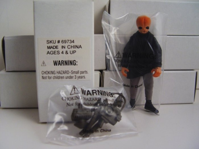 Lot of 5 Star Wars mail-away Cantina Band Member action figures MIB