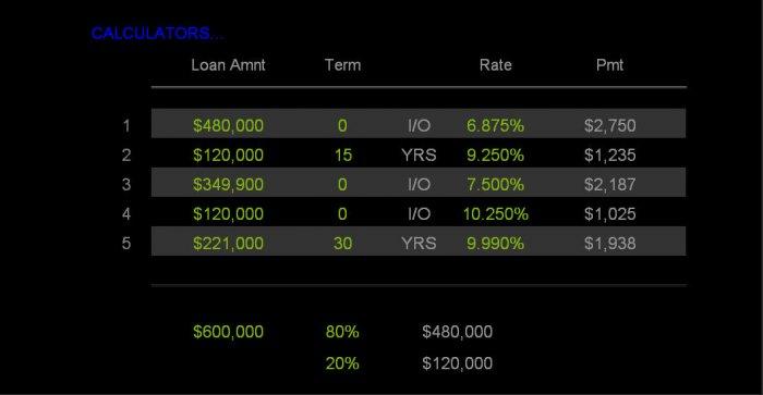 Deluxe Multiple Home Loan Calculator
