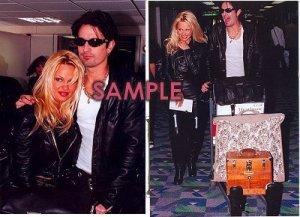 Pamela Anderson & Tommy Lee 1995 Heathrow