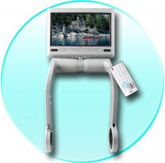 7 inch TFT LCD Armrest with a Built In DVD Player