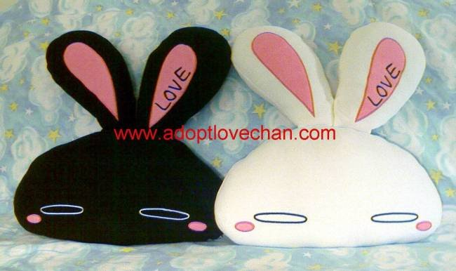Set of LOVE-Chan Beaded Heads Ai Otsuka Bunny Rabbit Plush Stuffed