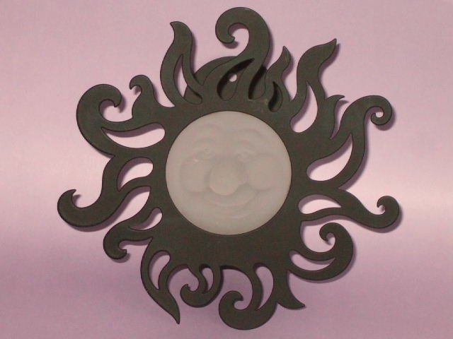 Retired PartyLite Sun Candle Holder Sunbeam Wall Sconce