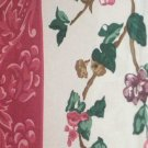 Pink Scroll and Wildflowers Floral Fabric Shower Curtain