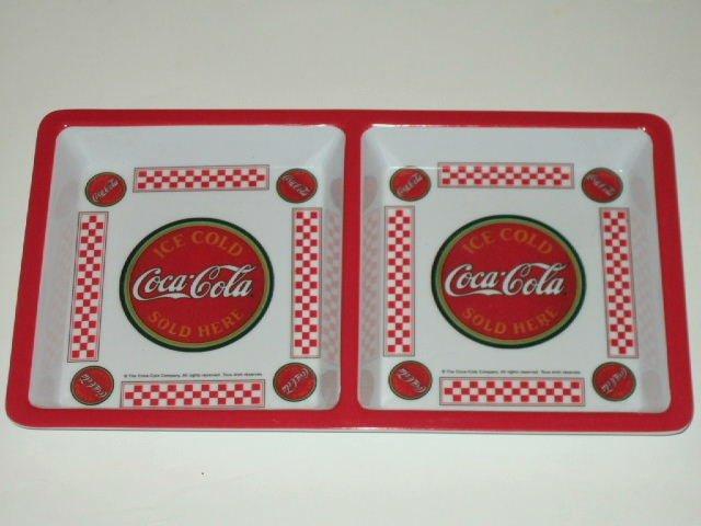 Coca-Cola Snack Tray 2 Sections Coke Kitchen Decor