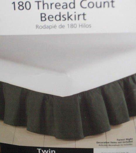 Forest Green Twin Bedskirt Dust Ruffle Bed Skirt