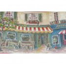 French Paris Cafes and Shops Wall Border Wallpaper