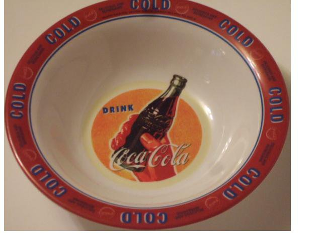 Coca Cola Salad Soup Bowls Coke Kitchen Decor