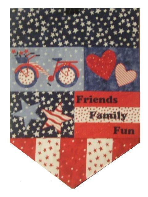 Patriotic Table Runner Friends Family Fun