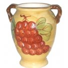 Grapes Decorative Vase Ceramic with Handles