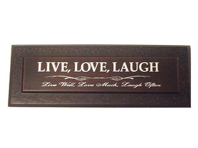 Live Love Laugh Plaque Wall Decor