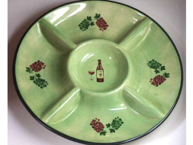 Tuscan Wine and Grapes Platter Serving Plate