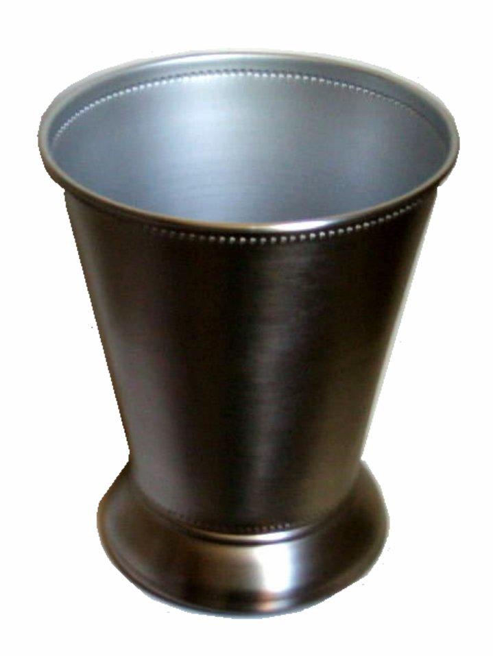 Modern Silver Metal Wastebasket Bathroom Trash Can