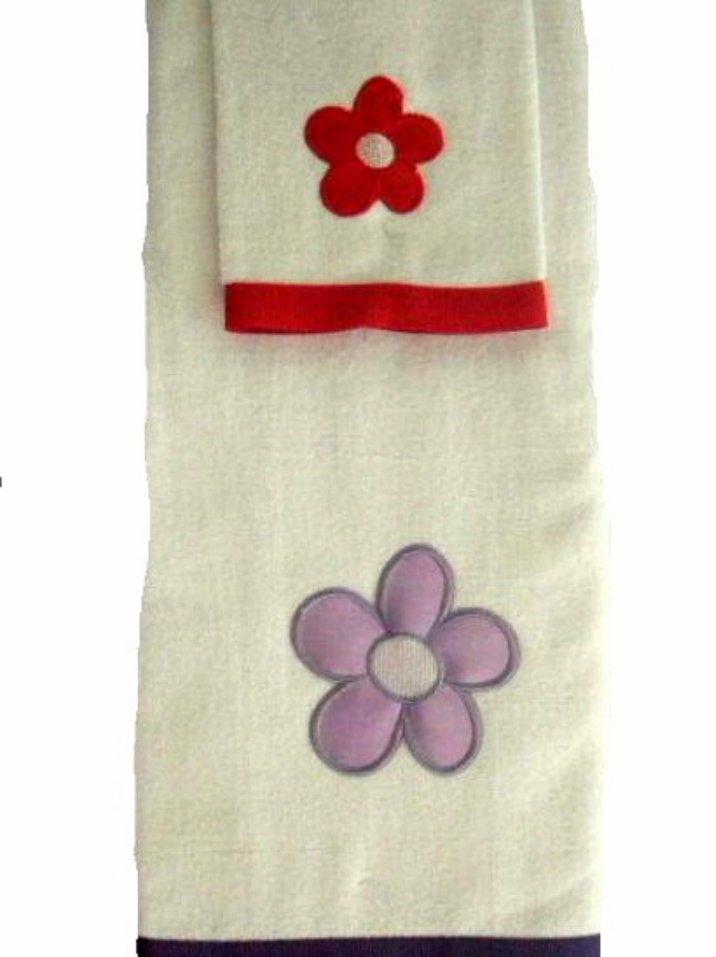2 Pc.  Daisies Floral Bath Towel Set