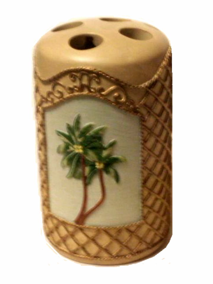 Tropical Palm Trees Toothbrush Holder