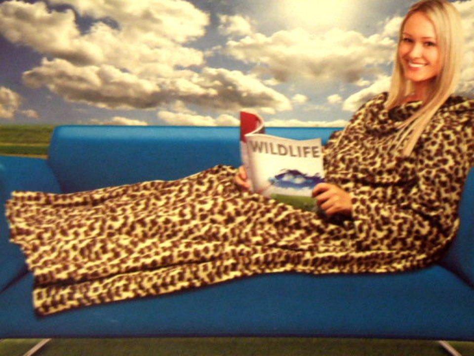 Leopard Print Blanket Sleeved