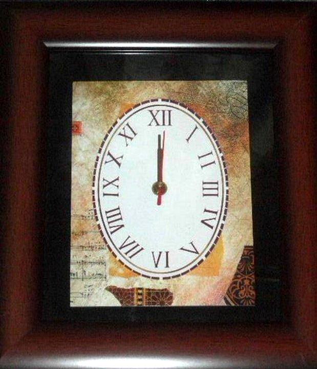 Sheet Music Abstract Wall Clock