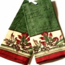 Oak Leaves Acorns Sentiment Kitchen Towels Set