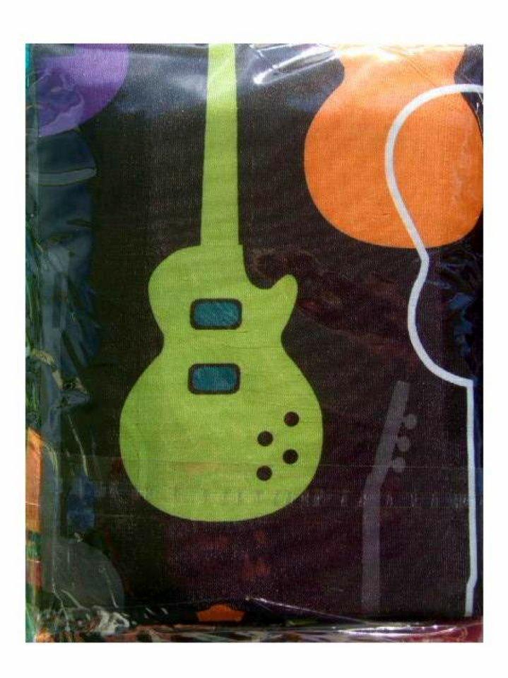 Guitar Hero Teen Shower Curtain Memory Foam Bath Mat