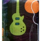 Guitar Hero Teen Shower Curtain Memory Foam Bath Mat