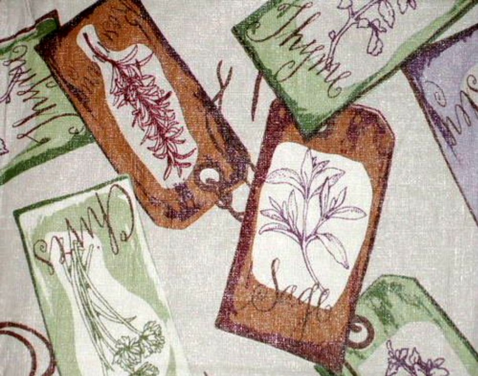 Tuscan Herbs and Spices Tablecloth