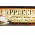 Cappuccino Espresso Coffee Kitchen Plaque Sign